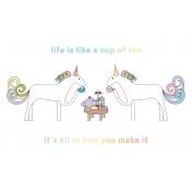 Unicorn Tea Party- Tea Card 02 4x6