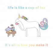 Unicorn Tea Party- Tea Card 02 4x4