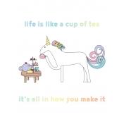 Unicorn Tea Party- Tea Card 02 3x4