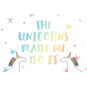 Unicorn Tea Party- Unicorn Card 01 4x6