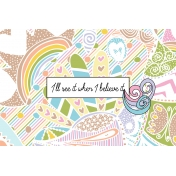Unicorn Tea Party- Unicorn Card 03 4x6