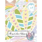 Unicorn Tea Party- Unicorn Card 03 3x4