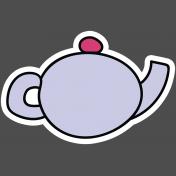 Unicorn Tea Party Print Kit- Tea Pot