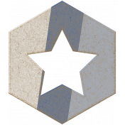 Spring Day Element- Hexagon shape 1c
