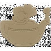Scraps Kit #2- Rubber Tea Pot