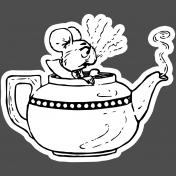 Scrap Kit #2- Print Kit- Sticker Tea Pot