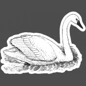 Scrap Kit #2- Print Kit- Sticker Swan