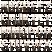 Scraps #2 Cork Alpha Letters