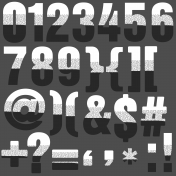 Scraps #2 Printable Alpha Numbers