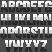 Scraps #2 Printable Alpha Letters