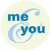 Oceanside Print- Circle 10- Me And You- Word-art