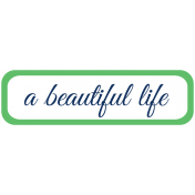 Oceanside Print- Label- A Beautiful Life