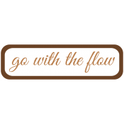 Oceanside Print- Label-Go With The Flow