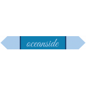 Oceanside Print- Label- Oceanside