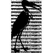 Vintage African Bird 3b Template