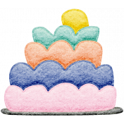 Seriously Sweet Element- Felt Cake 2