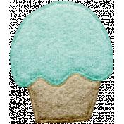 Seriously Sweet Element- Felt Cupcake 1