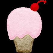 Seriously Sweet Element- Felt Cupcake 2