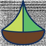 Oceanside Print- Sailboat 01