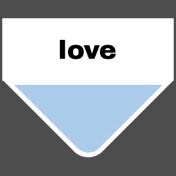 Oceanside Print- Tab- Love