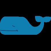 Oceaside Print- Whale- Sticker Blue
