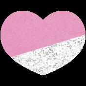 Kenya Heart Glitter Pink