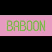 Kenya WordArt Baboon