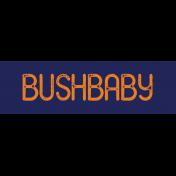 Kenya WordArt Bushbaby