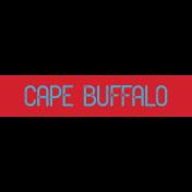 Kenya WordArt cape buffalo