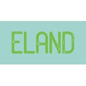 Kenya WordArt Eland