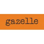 Kenya WordArt gazelle