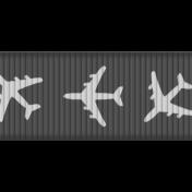 Medium Ribbon Template Airplanes
