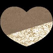 Kenya Elements heart glitter gold
