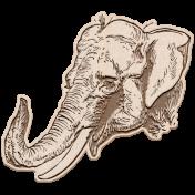 Kenya Elements wood elephant