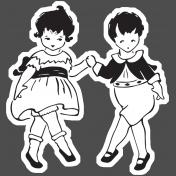 Family Day- Sticker- Vintage Kids