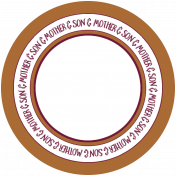 Family Day Word Art- Mother & Son Circle