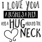 Family Day Word Art- Bushel And A Peck