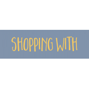 Family Day Word Art- Label- Shopping With