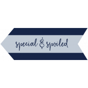 Family Day Word Art- Label- Special & Spoiled 1