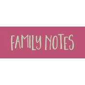 Family Day Word Art- Label- Family Notes