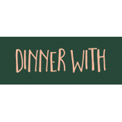 Family Day Word Art- Label- Dinner With