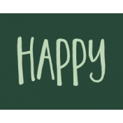 Family Day Word Art- Label- Happy