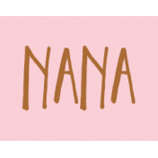 Family Day Word Art- Label- Nana