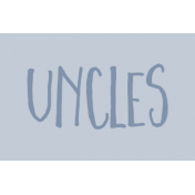 Family Day Word Art- Label- Uncles