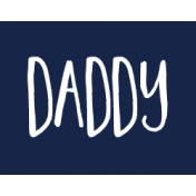 Family Day Word Art- Label- Daddy