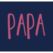 Family Day Word Art- Label- Papa