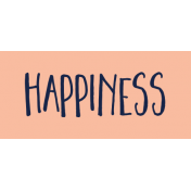 Family Day Word Art- Label- Happiness