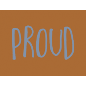 Family Day Word Art- Label- Proud