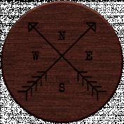 Nature Escape Elements- wood compass