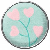 Easter Elements-Brad Hearts Floral